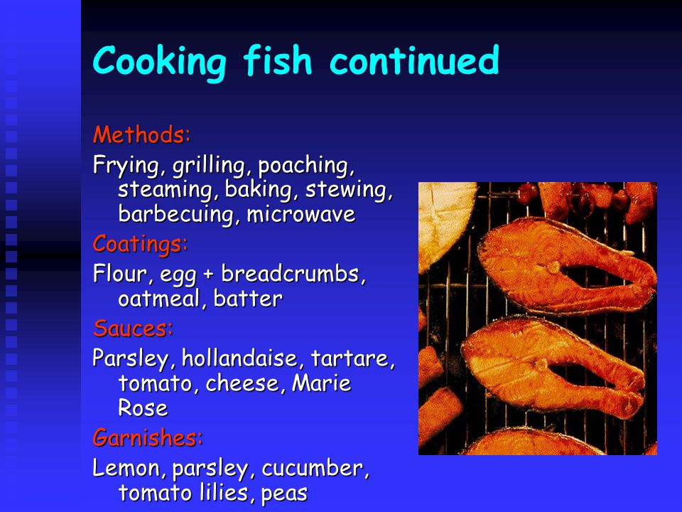 Cooking fish continued
