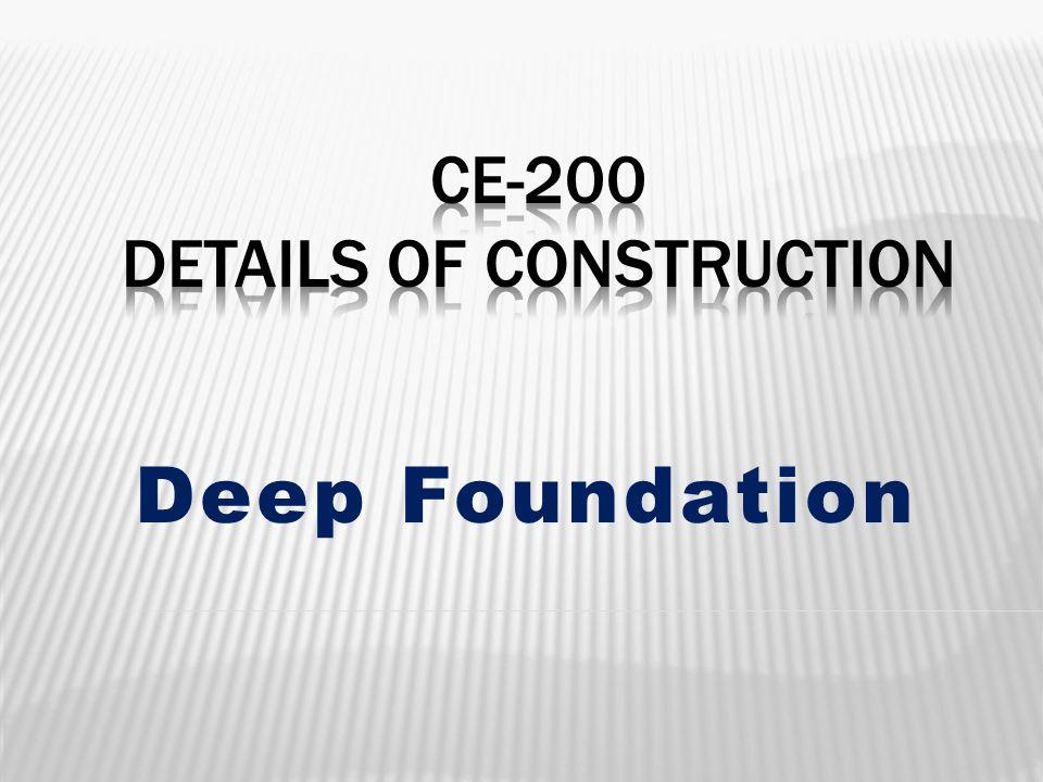CE-200 Details of Construction