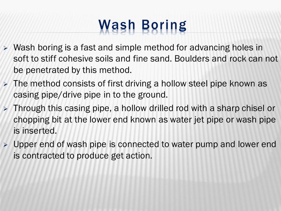 Wash Boring
