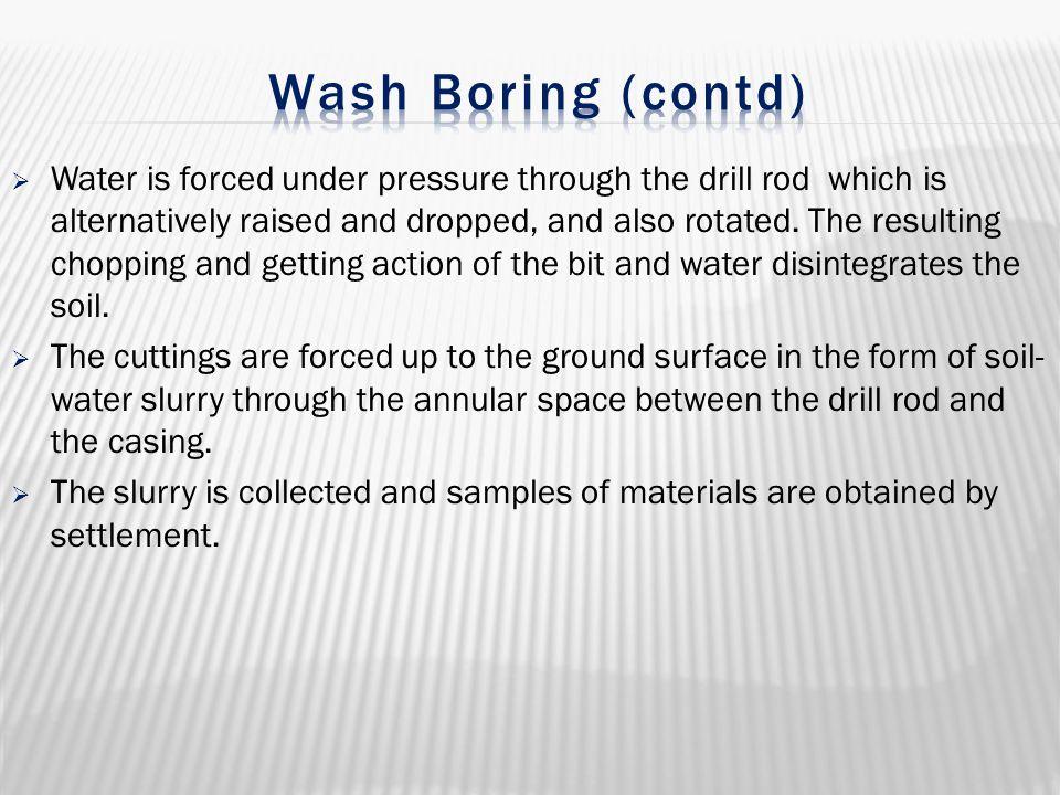 Wash Boring (contd)