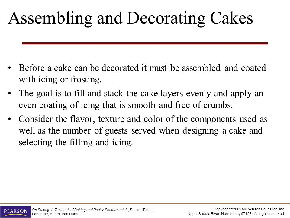 Assembling and Decorating Cakes