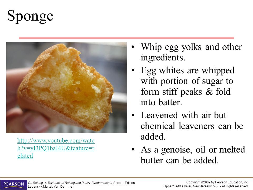 Sponge Whip egg yolks and other ingredients.