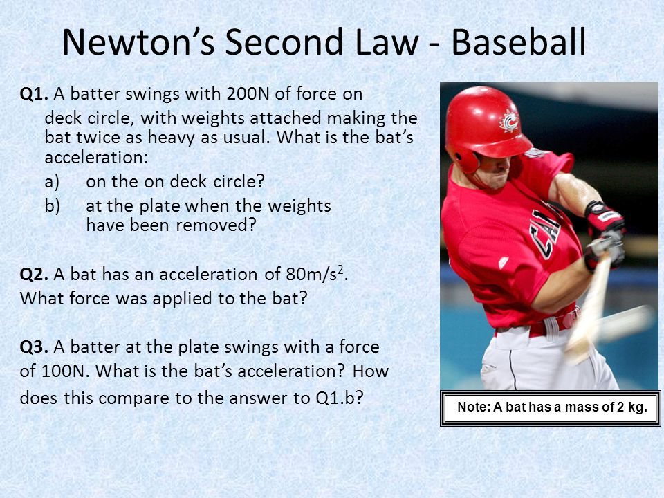 Newton's Second Law - Baseball