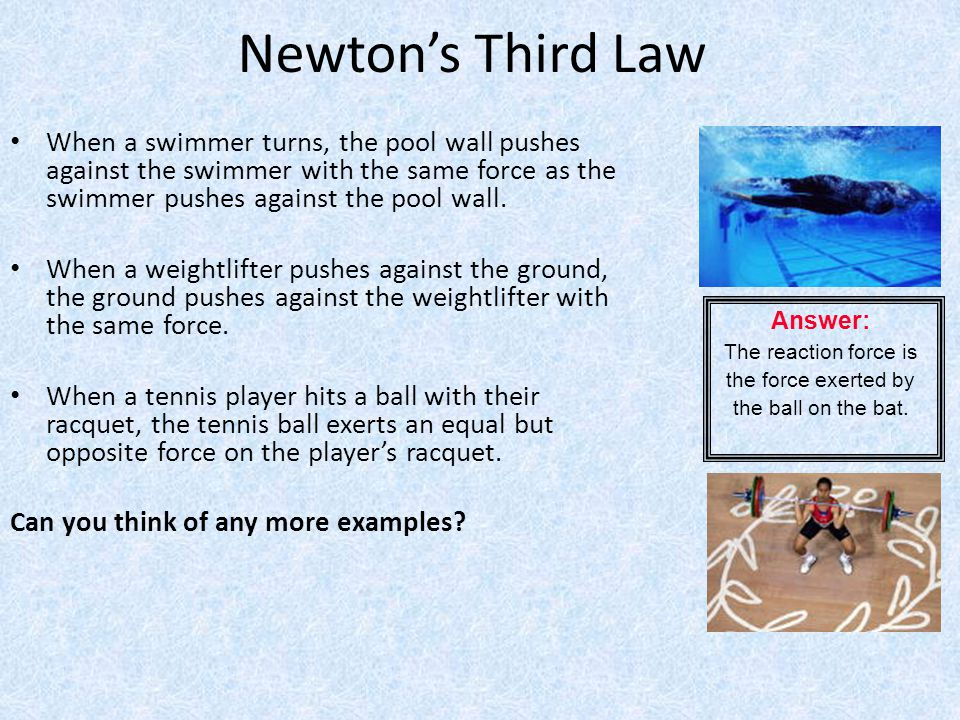 The reaction force is the force exerted by the ball on the bat.