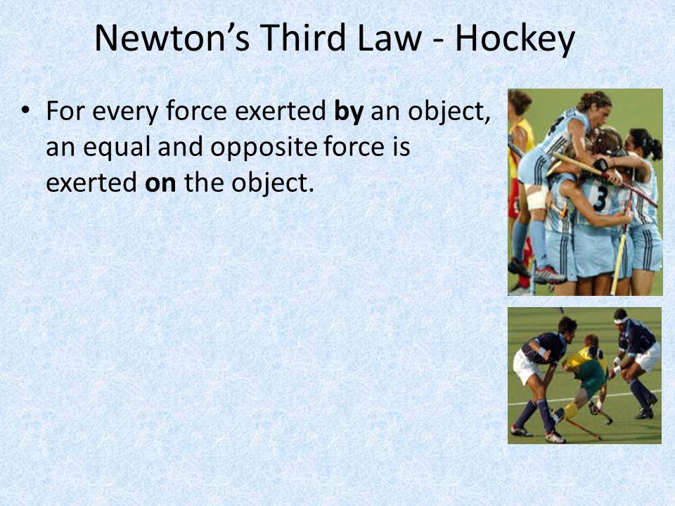 Newton's Third Law - Hockey