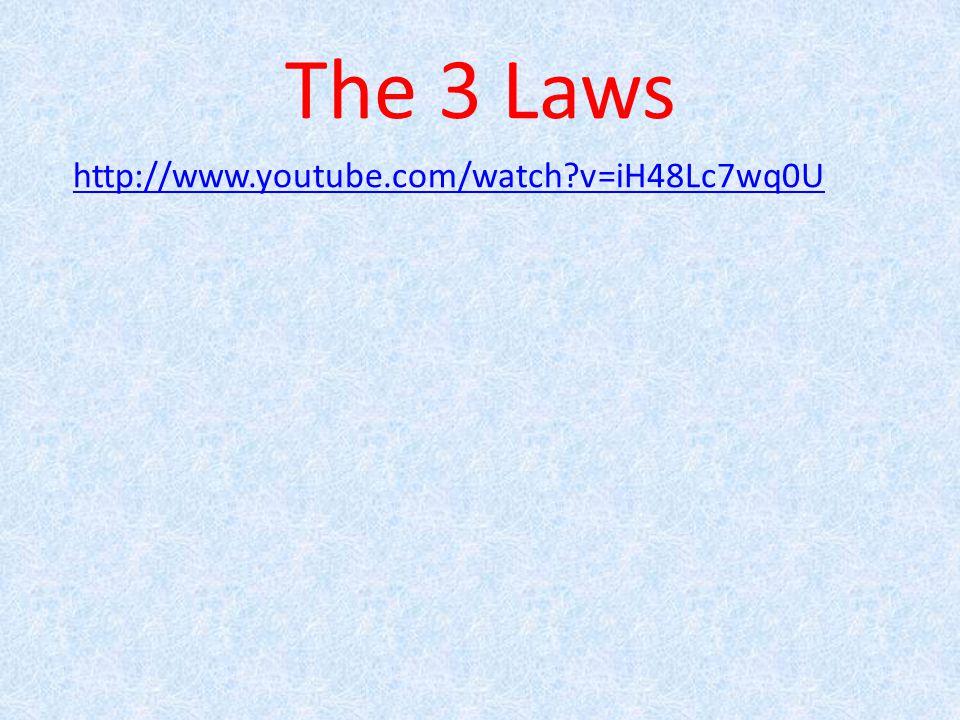 The 3 Laws http://www.youtube.com/watch v=iH48Lc7wq0U