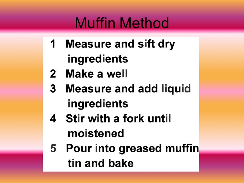Muffin Method