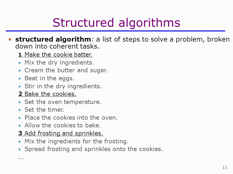 Structured algorithms