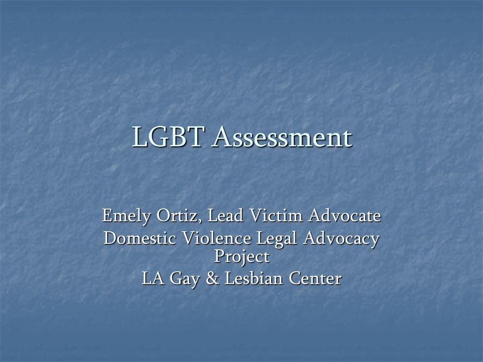 LGBT Assessment Emely Ortiz, Lead Victim Advocate
