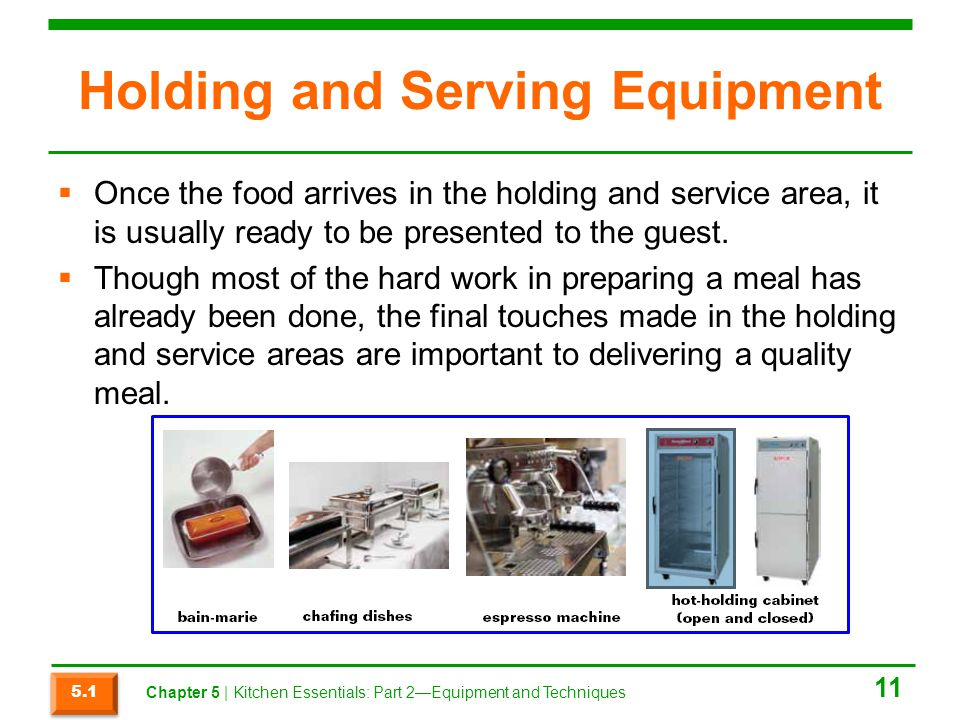 Holding and Serving Equipment