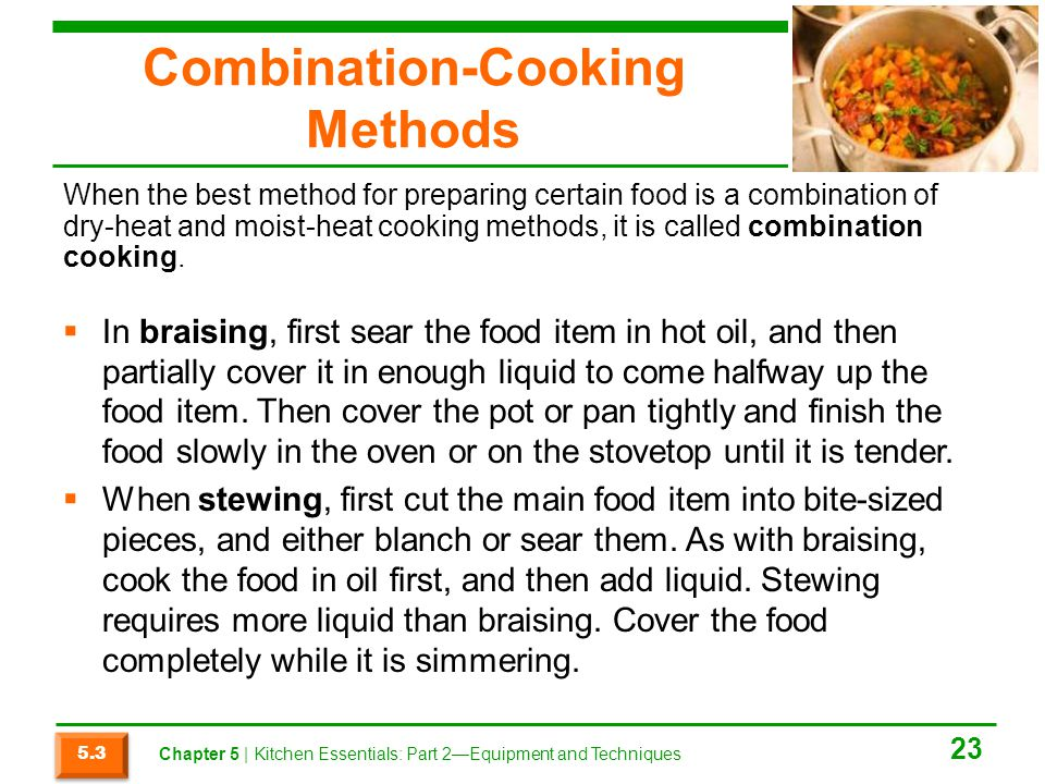 Combination-Cooking Methods