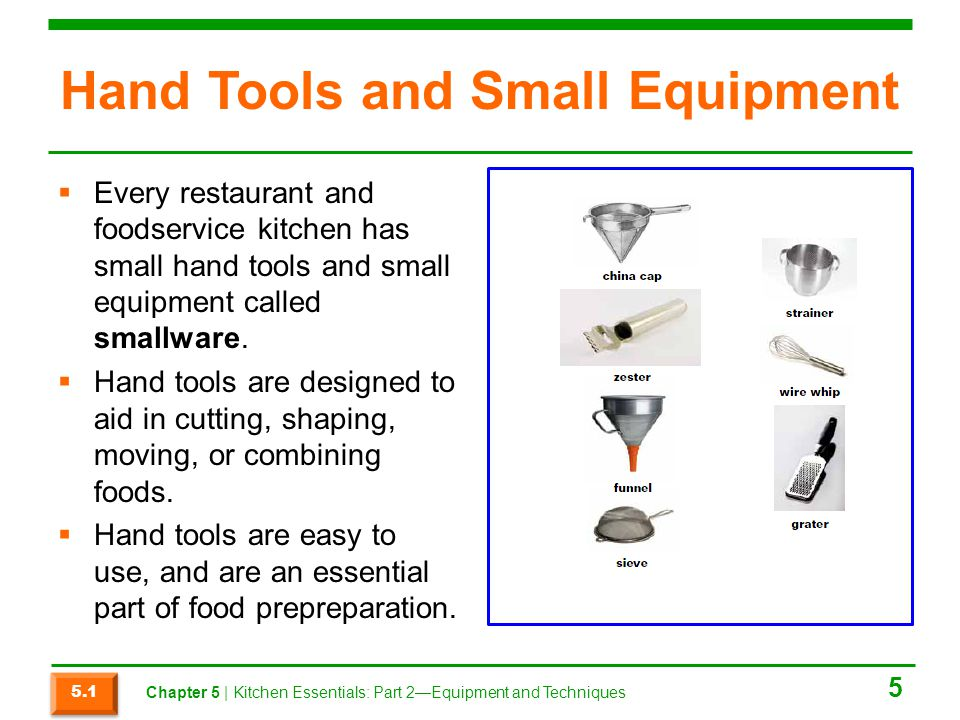 Hand Tools and Small Equipment