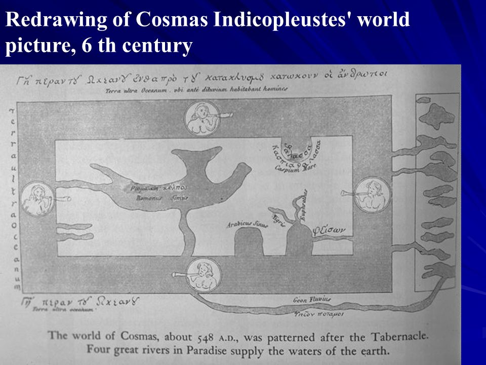 Redrawing of Cosmas Indicopleustes world picture, 6 th century