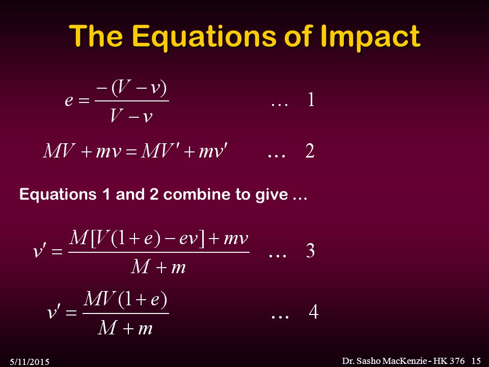 The Equations of Impact