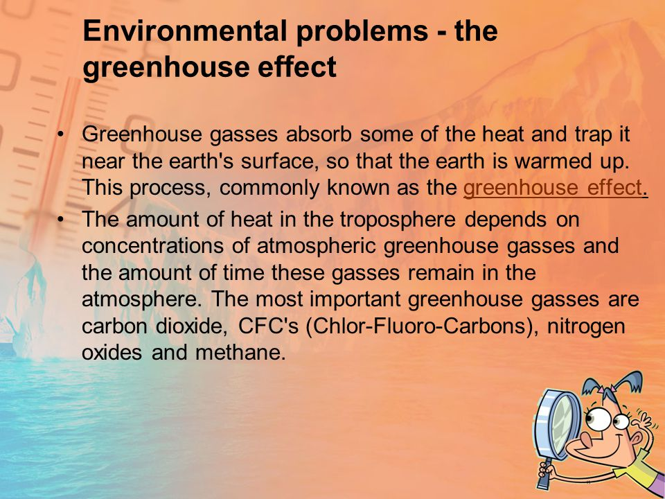 Environmental problems - the greenhouse effect