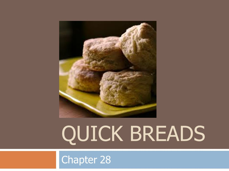 Quick Breads Chapter 28