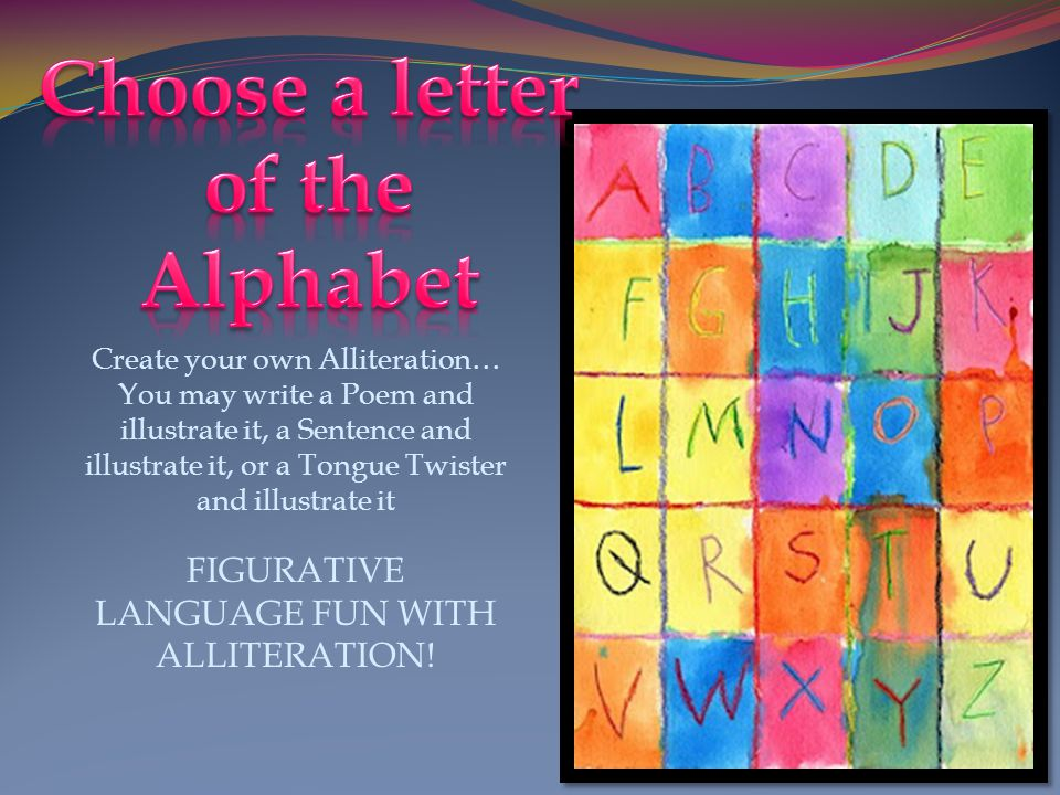 Choose a letter of the Alphabet