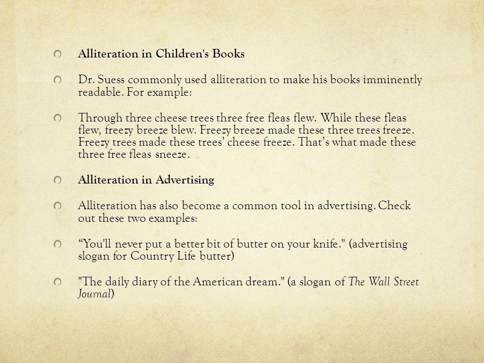 Alliteration in Children s Books