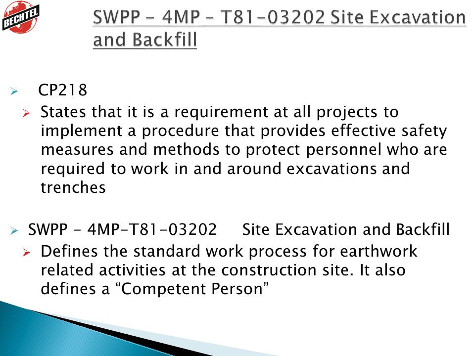 SWPP - 4MP – T81-03202 Site Excavation and Backfill
