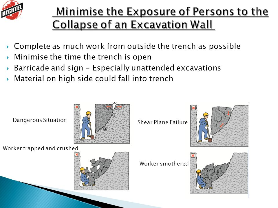 Minimise the Exposure of Persons to the Collapse of an Excavation Wall