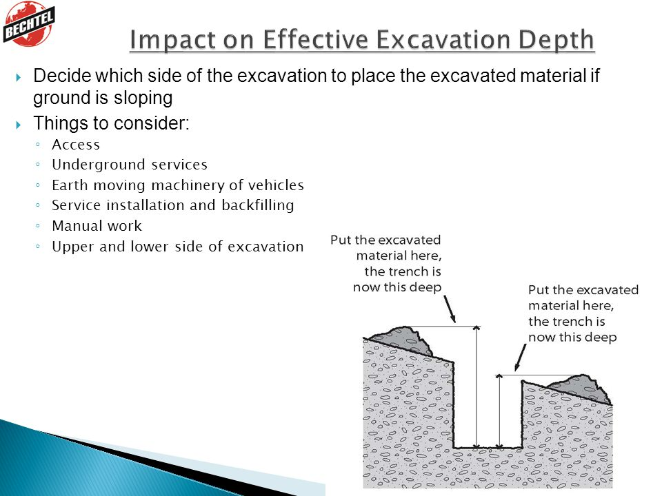 Impact on Effective Excavation Depth