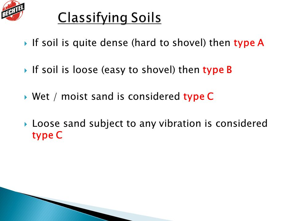 Classifying Soils 1. Discuss each point.