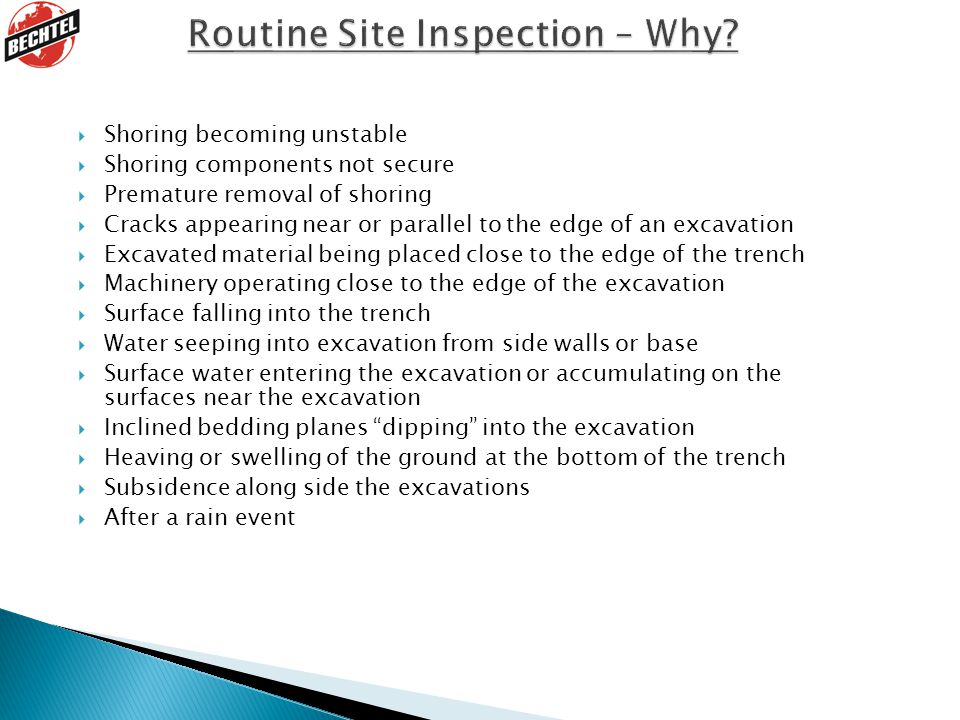 Routine Site Inspection – Why