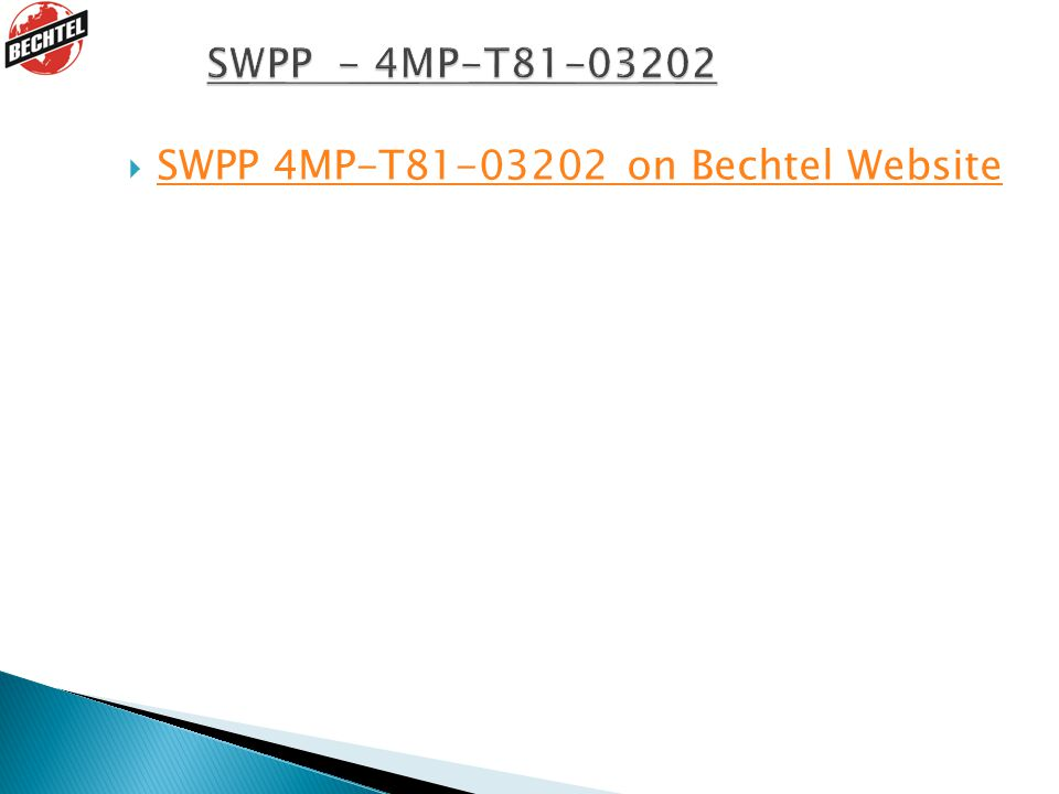 SWPP 4MP-T81-03202 on Bechtel Website