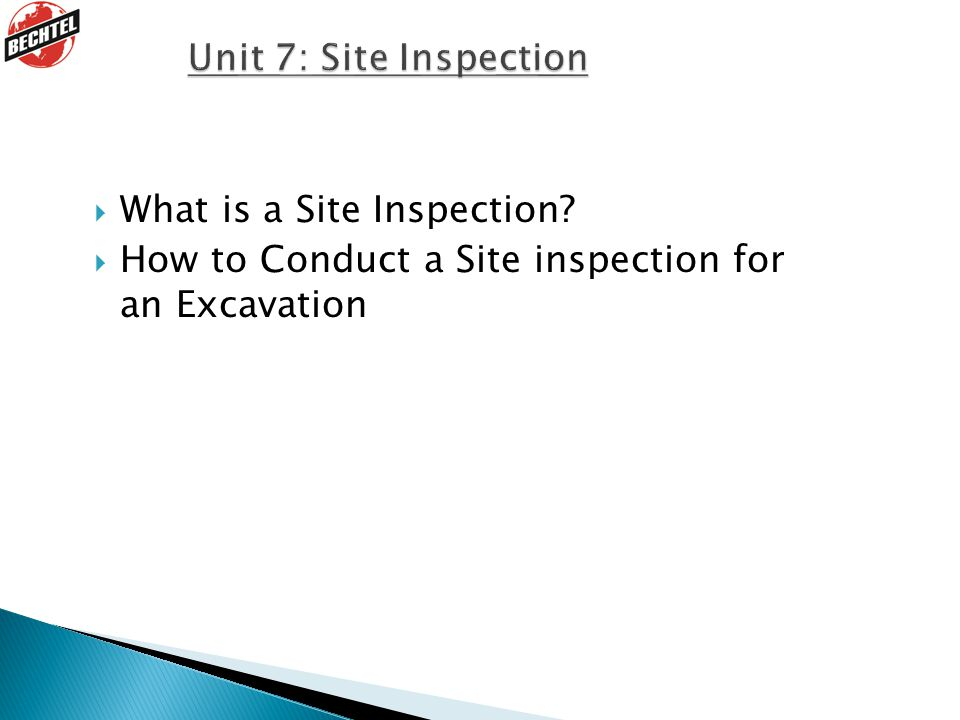 What is a Site Inspection