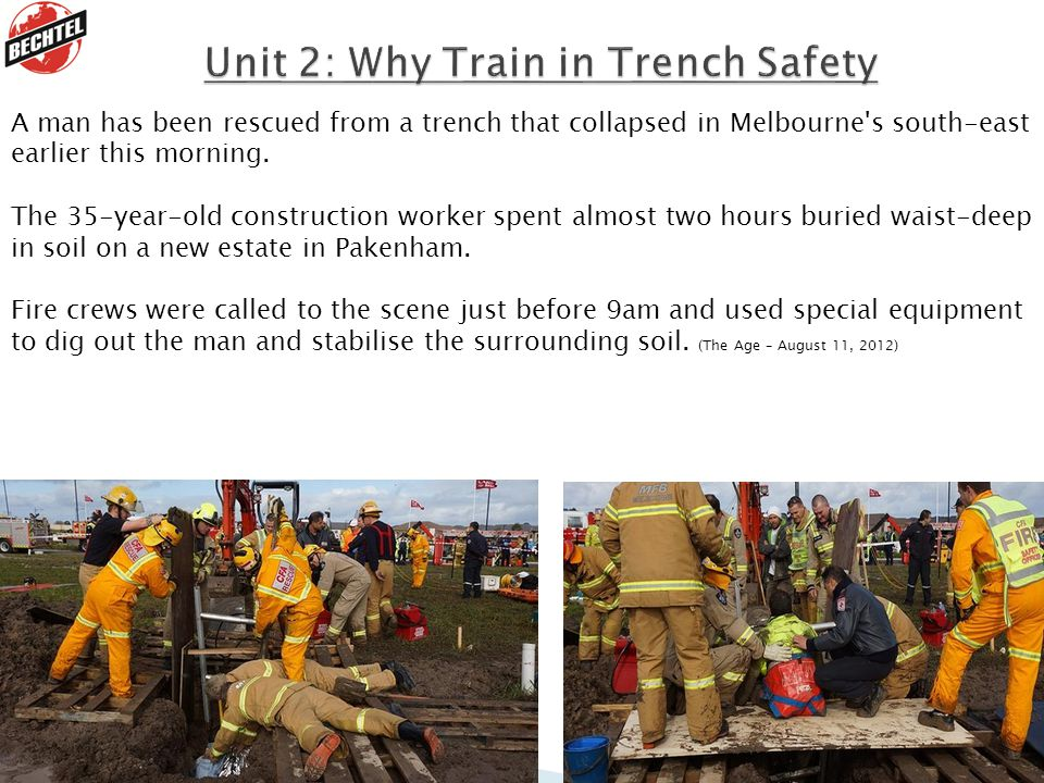 Unit 2: Why Train in Trench Safety