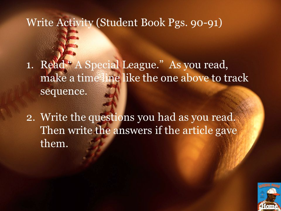Write Activity (Student Book Pgs. 90-91)