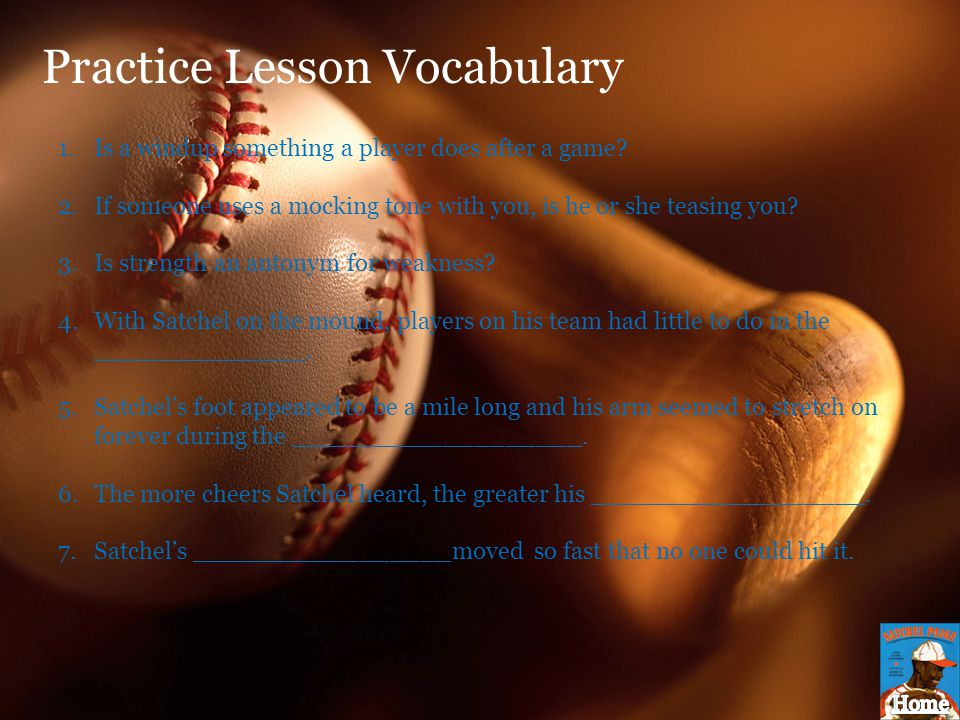 Practice Lesson Vocabulary