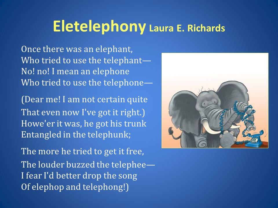 Eletelephony Laura E. Richards