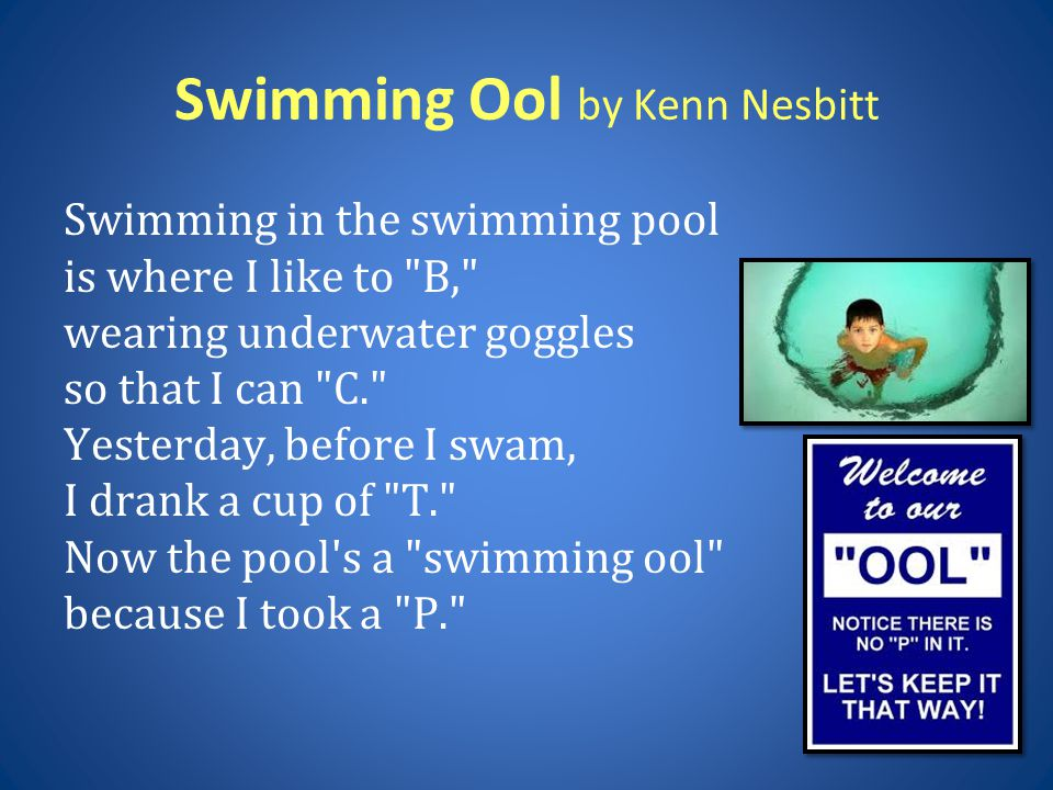 Swimming Ool by Kenn Nesbitt