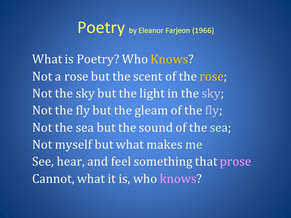 Poetry by Eleanor Farjeon (1966)