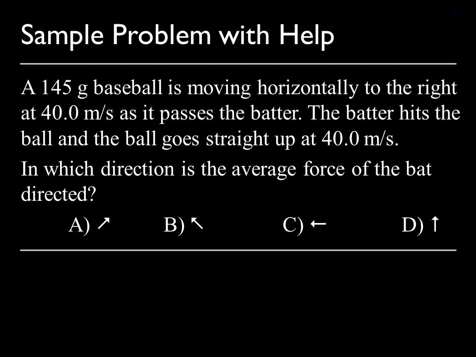 Sample Problem with Help