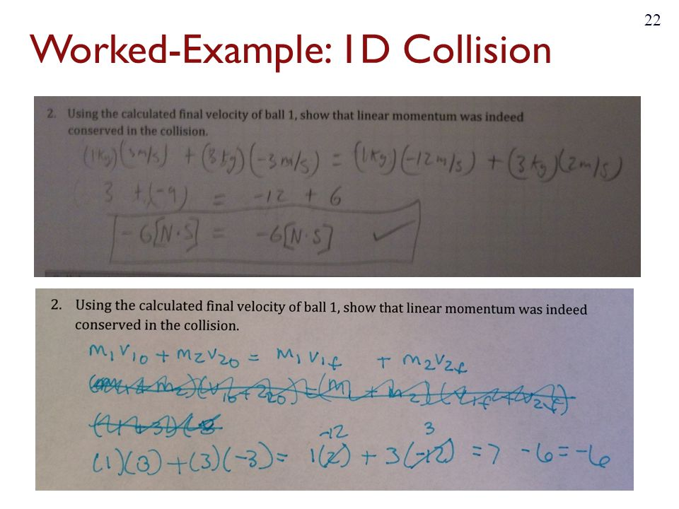 Worked-Example: 1D Collision