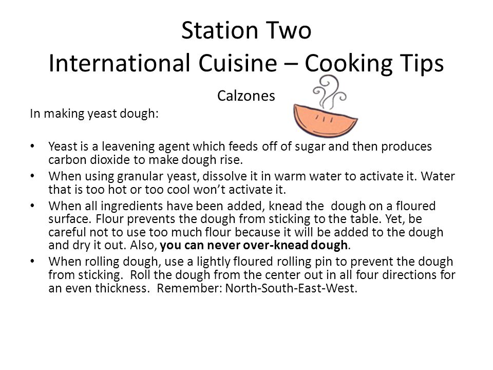 Station Two International Cuisine – Cooking Tips