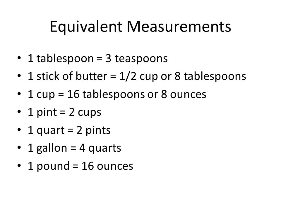 Equivalent Measurements