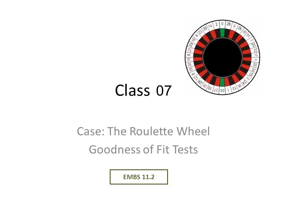 Case: The Roulette Wheel Goodness of Fit Tests