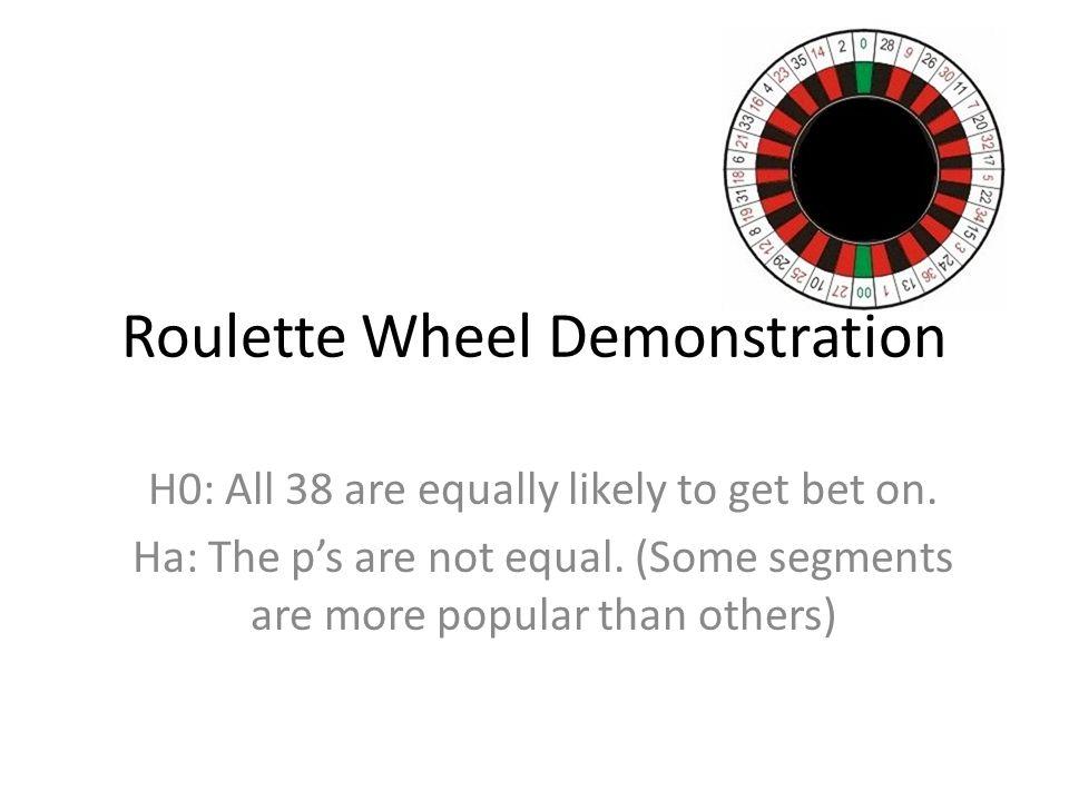 Roulette Wheel Demonstration