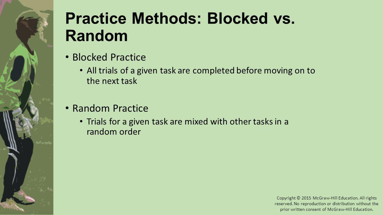 Practice Methods: Blocked vs. Random