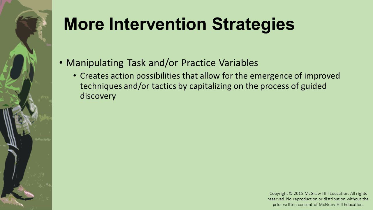 More Intervention Strategies