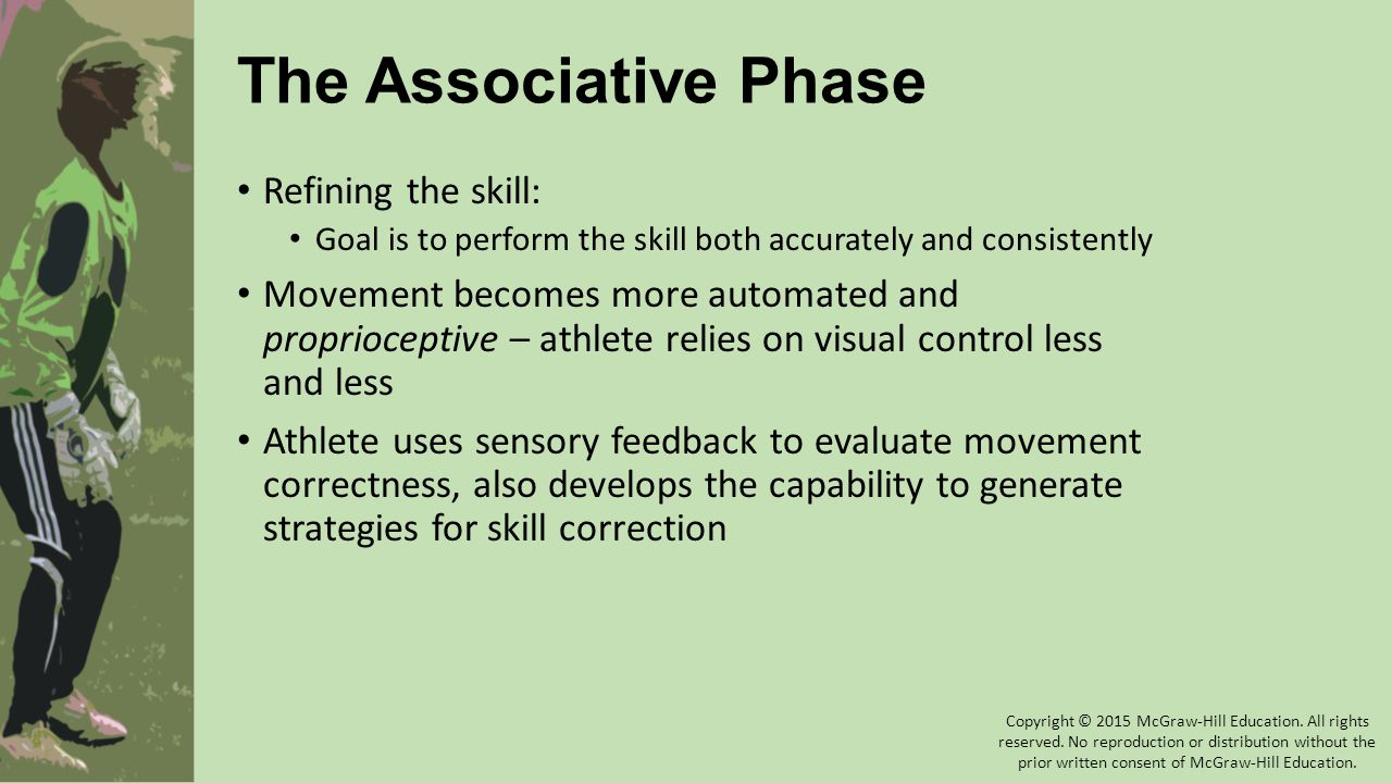 The Associative Phase Refining the skill: