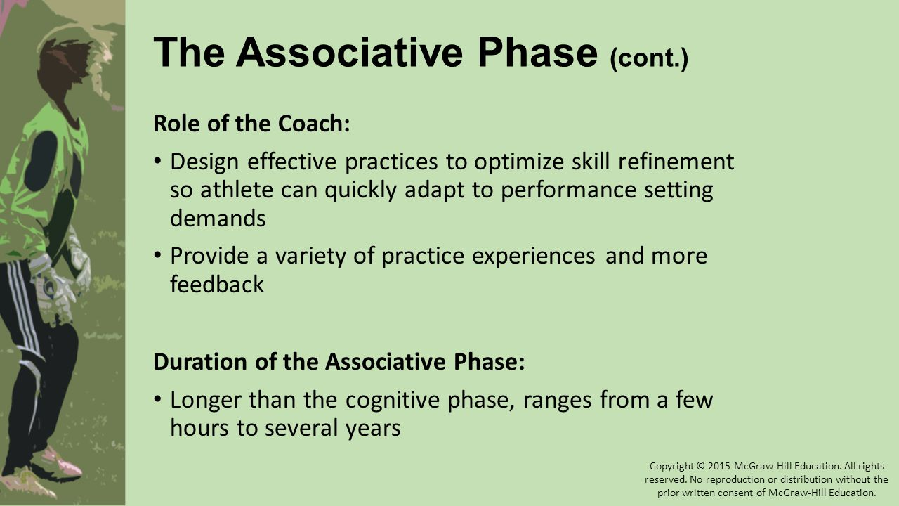 The Associative Phase (cont.)