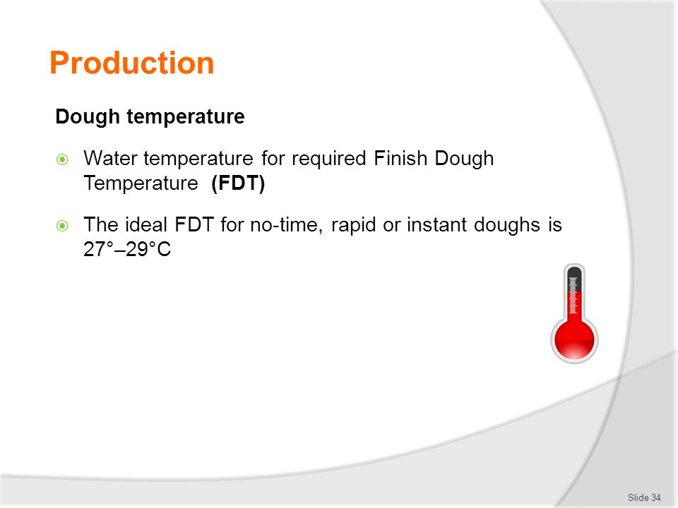 Production Dough temperature