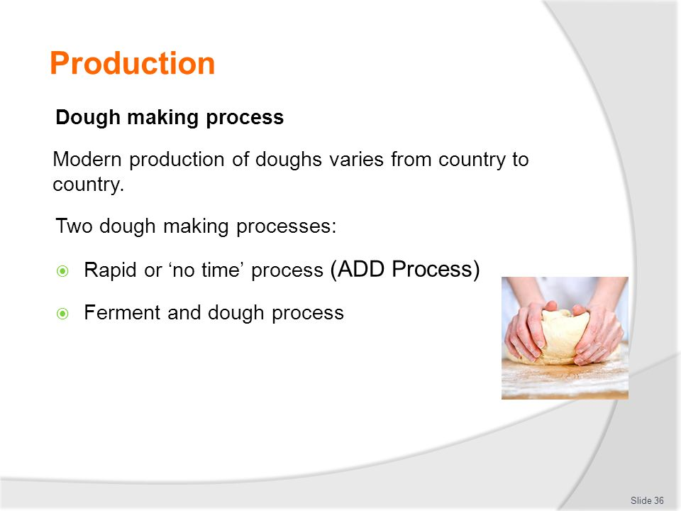 Production Dough making process