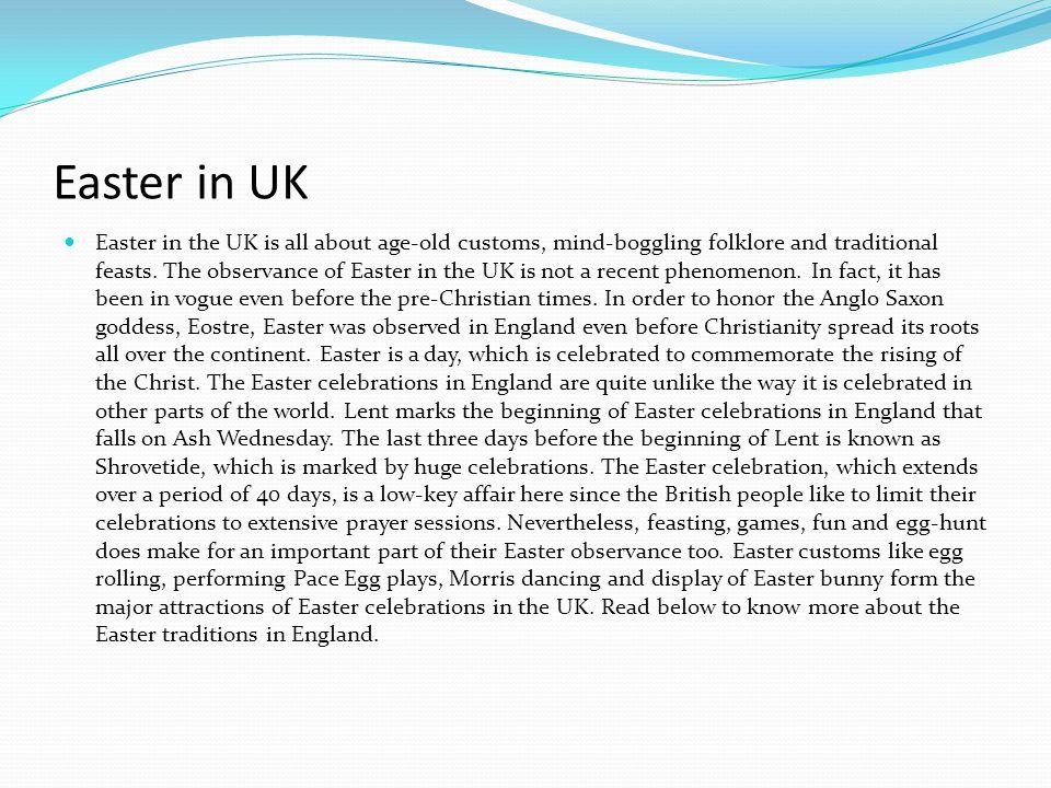 Easter in UK