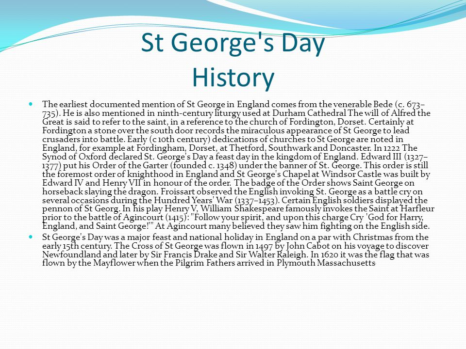 St George s Day History
