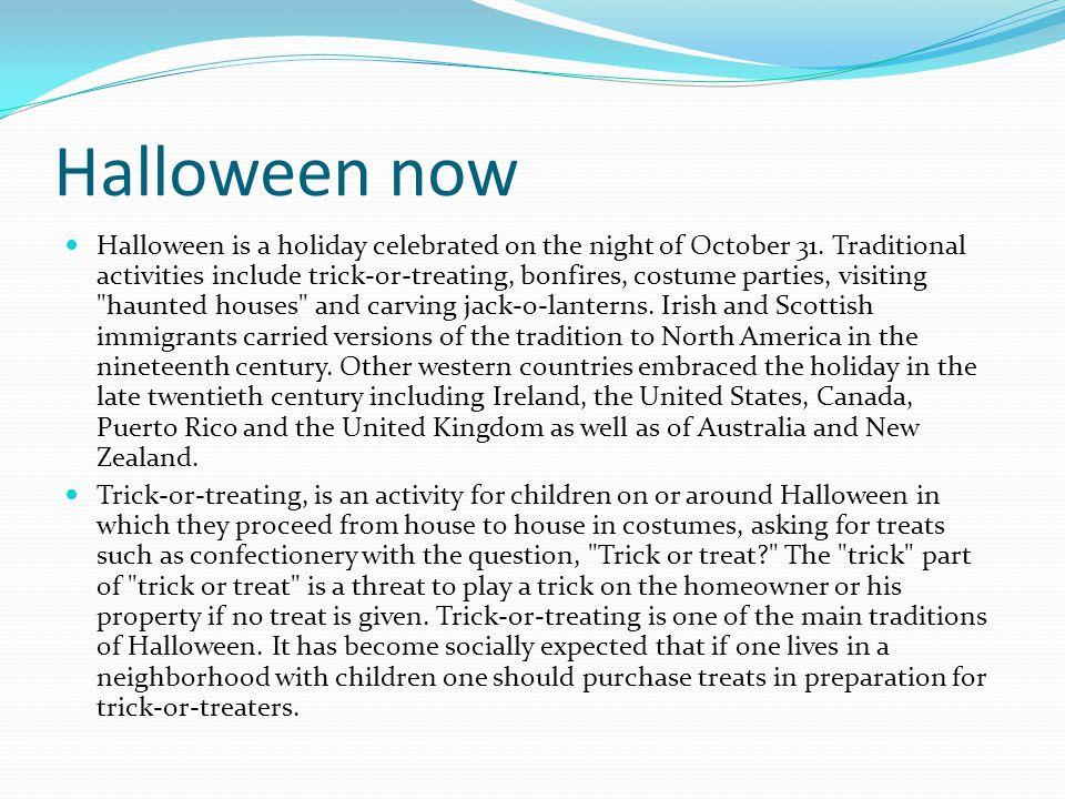 Halloween now